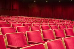 teatr siedzenia Obrazy Royalty Free