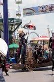 Teatralnie cyrkowy wykonawca Megan Fontaine Fotografia Royalty Free