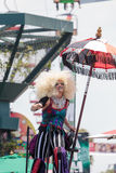Teatralnie cyrkowy wykonawca Megan Fontaine Obraz Royalty Free