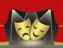 Teatralnie maski Fotografia Royalty Free