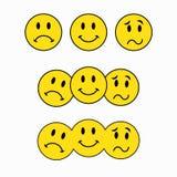 Teatralnie maski, trzy smileys, emoticon majcher royalty ilustracja