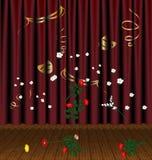 Teatrical Szene und Blumen Stockbild