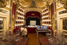 Teatro二圣克罗,那不勒斯歌剧院 库存图片