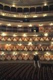 Teatro冒号 Colombus剧院 黄昏的马德罗港 阿根廷 房子莫斯科歌剧tsaritsino 免版税库存图片