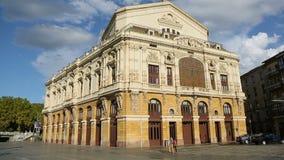 Teatro阿里亚加歌剧院后面看法在毕尔巴鄂,新巴洛克式的建筑学 影视素材