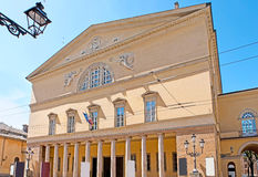 Teatro雷希奥在帕尔马 免版税图库摄影