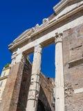 Teatro马尔塞洛和门廓D ` Ottavia废墟在罗马意大利 库存图片