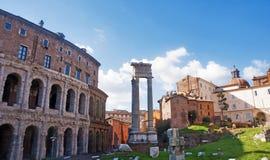 Teatro马尔塞洛,罗马 免版税图库摄影