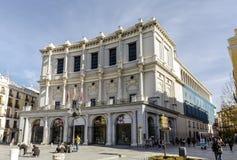 Teatro πραγματικό στη Μαδρίτη Ισπανία Στοκ εικόνα με δικαίωμα ελεύθερης χρήσης