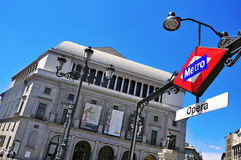 Teatro реальное в Мадриде, Испании Стоковое Изображение RF