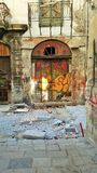 Teatro abandonado Imagenes de archivo