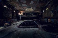 Teatro abandonado - búfalo, Nueva York Imagen de archivo