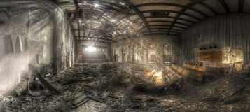 Teatro abbandonato II fotografia stock