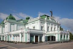 Teatro acadêmico do drama do estado de Omsk foto de stock