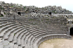 Teatro ad ovest di Umm Qais Fotografie Stock Libere da Diritti