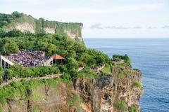 Teatro al tempio di Uluwatu, Bali, Indonesia Immagine Stock