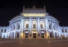 Teatro alla notte, Vienna, Austria di Burg fotografia stock libera da diritti
