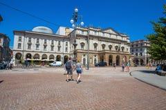 Teatro alla Scala Theatre la scala Jest główna opera w Mediolan Przemyślany jeden prestiżowi teatry w wor fotografia stock