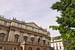 Teatro alla Scala w Mediolan G??wna fasada obraz royalty free