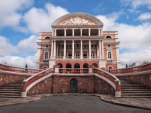 Teatro Amazonas. In the main square of Manaus, Brasil stock images