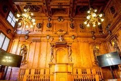 Teatro anatómico en Bolonia imagen de archivo libre de regalías