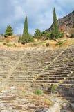 Teatro antico, Delfi, Grecia Fotografia Stock