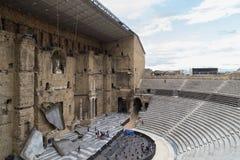 Teatro antico della città dell'arancia, patrimonio mondiale dell'Unesco Fotografie Stock