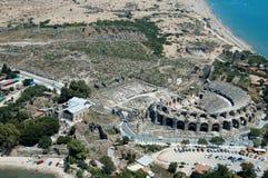 Teatro antico di Aspendos Fotografie Stock Libere da Diritti