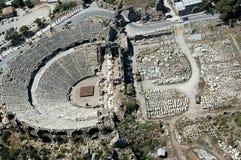 Teatro antico di Aspendos Fotografia Stock Libera da Diritti