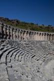 Teatro antico di Aspendos in Turchia Fotografia Stock
