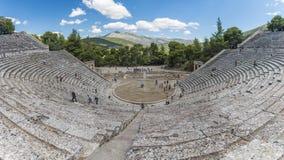 Teatro antico di Epidaurus Fotografia Stock