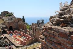 Teatro antico di Taormina Immagine Stock