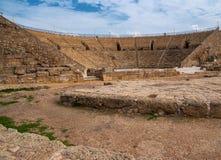 Teatro antigo de Caesarea Imagem de Stock