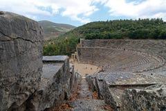 Teatro antigo de Epidaurus na península grega de Argolid Foto de Stock