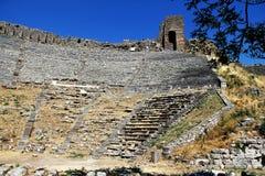Teatro antigo de Pergamon em Izmir, Turquia fotos de stock