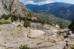 Teatro antigo em Delphi em Grécia Fotografia de Stock
