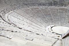 Teatro antigo em Epidaurus, Greece Fotografia de Stock Royalty Free