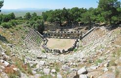 Teatro antigo em Priene Fotografia de Stock