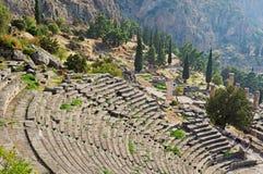 Teatro antiguo de Delphi Imagenes de archivo