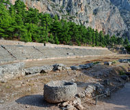Teatro antiguo de Delphi Foto de archivo