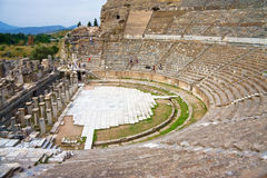 Teatro antiguo de Ephesus Imagen de archivo