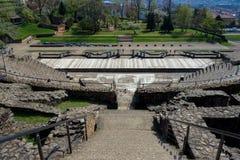 Teatro antiguo de Fourvière en Lyon, Francia imagen de archivo