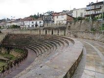 Teatro antiguo de Ohrid fotos de archivo