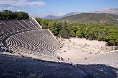 Teatro antiguo en el santuario de Asklepios Imagen de archivo libre de regalías