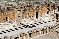 Teatro antiguo en Hierapolis Foto de archivo libre de regalías