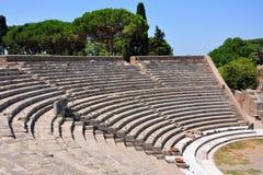 Teatro antiguo en Ostia Antica Imagen de archivo