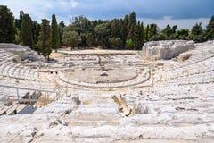 Teatro antiguo griego de Syracuse Fotografía de archivo
