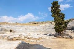 Teatro antiguo griego de Syracuse Fotos de archivo libres de regalías