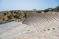 Teatro antiguo, Kourion, Chipre Fotos de archivo libres de regalías