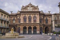 Teatro bellini, Catania secily Zdjęcia Royalty Free